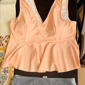Two piece high waisted bathing suit